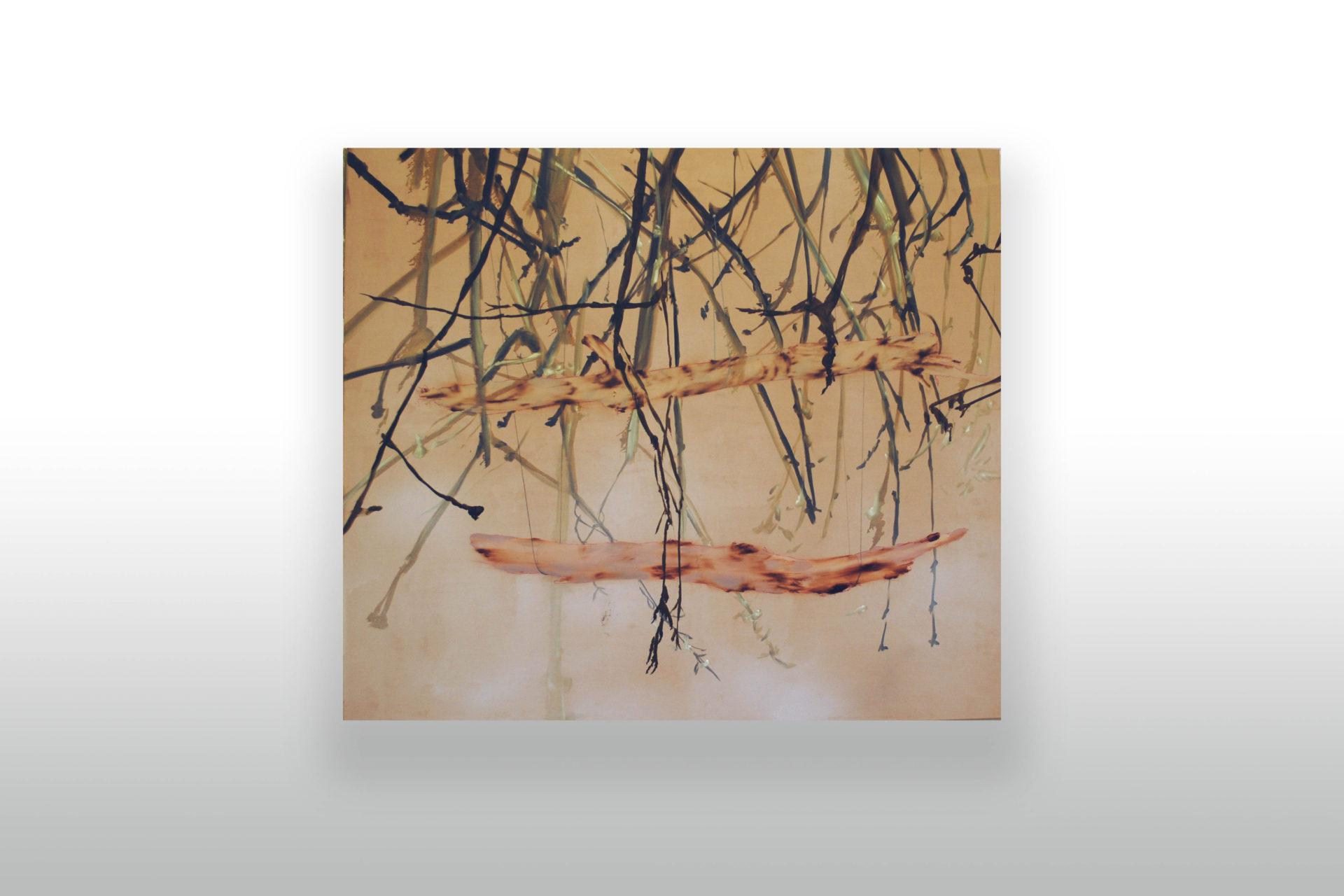 hovoriace prsty stromov | oil on canvas - olej na plátne | 165 x 145 | 2017