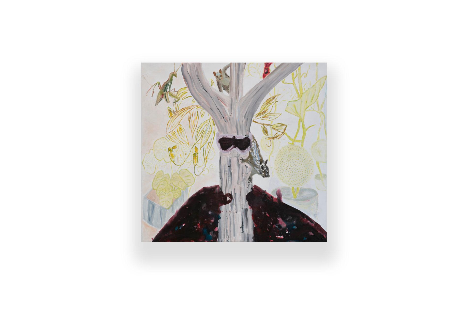 Brooklyn by Night | ink, aquarelle, acrylic and pastel on canvas - tuš, aqvarel, akryl a pastelka na plátne | 130 x 135 | 2017